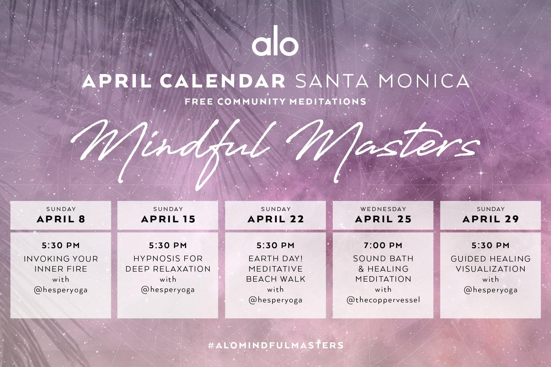 Alo Yoga Mindful Masters Workshop Series