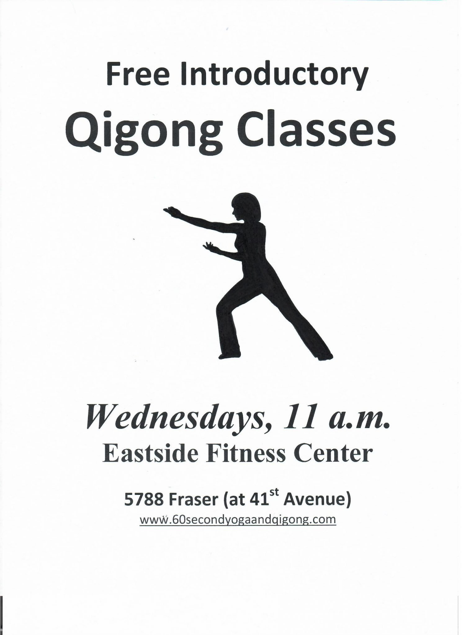 Free Introductory Qigong Sessions