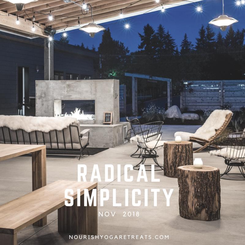 Radical Simplicity - A Nourish Yoga Retreat™