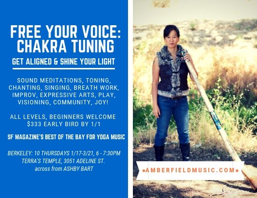 Berkeley Free Your Voice: Chakra Tuning 10 Week Class < Head + Heart