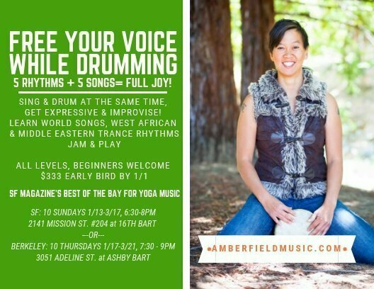Free Your Voice while Drumming 10 Week Class at Terra's Temple