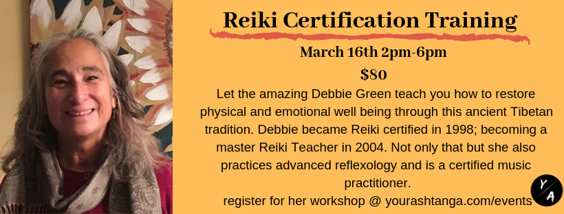 Reiki Level 1 Certification with Debbie Green