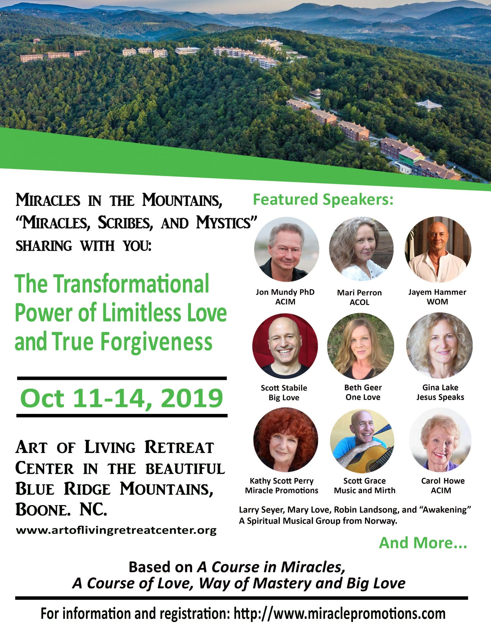Miracles in the Mountains Retreat at the Art of Living Retreat Center < Head + Heart