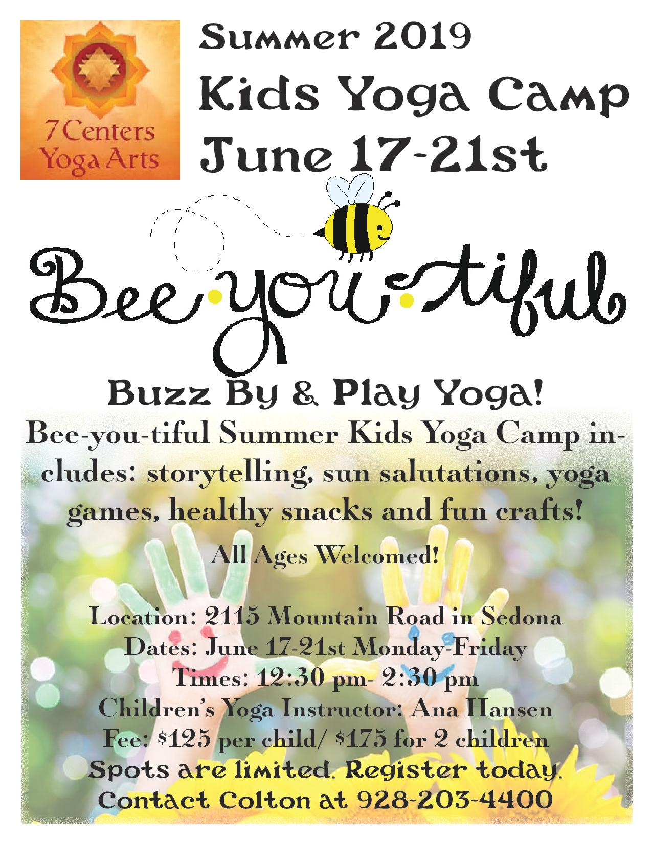 Bee-you-tiful Kids Yoga Camp