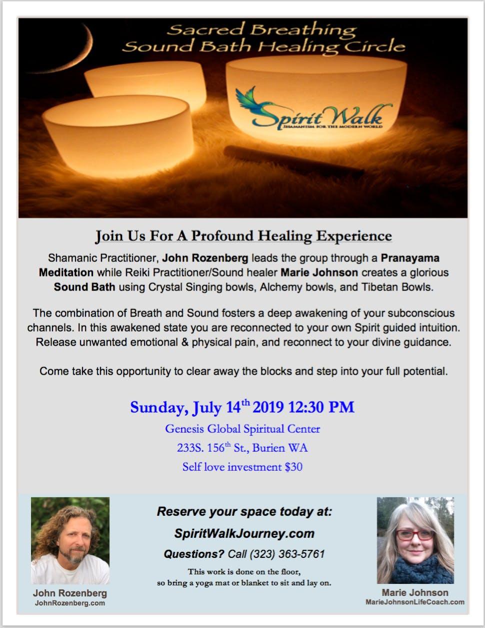 Sacred Breath: Sound Bath Healing Circle – Head + Heart