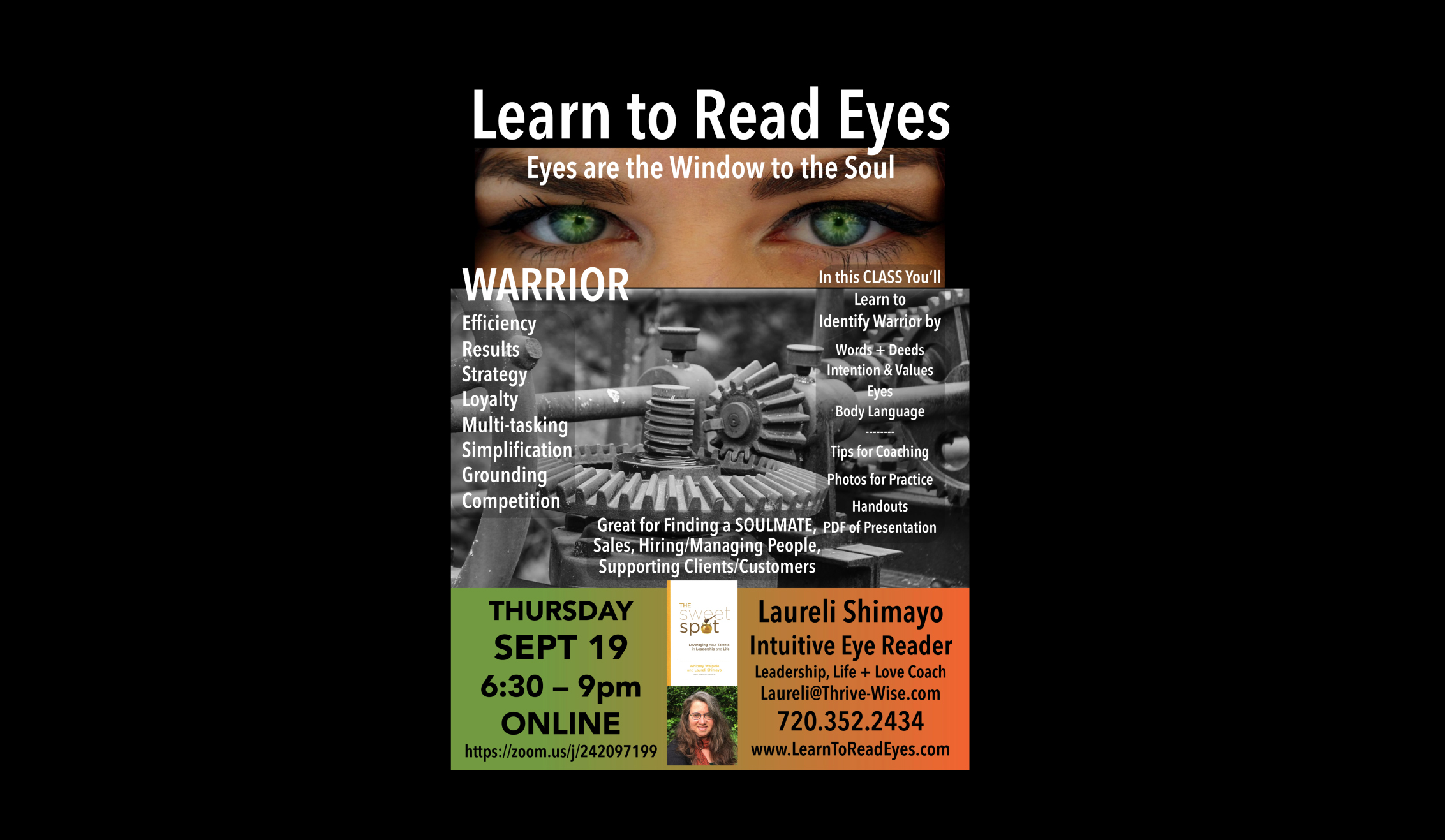 Learn to Read Eyes: Warrior Talent – An Online Class – Head