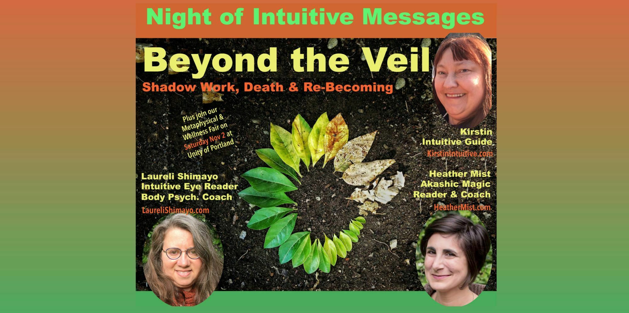 Night of Intuitive Messages - Go Beyond the Veil to Rewrite Your Life
