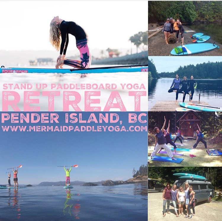 Stand Up Paddleboard Yoga Weekend Retreat on Pender Island