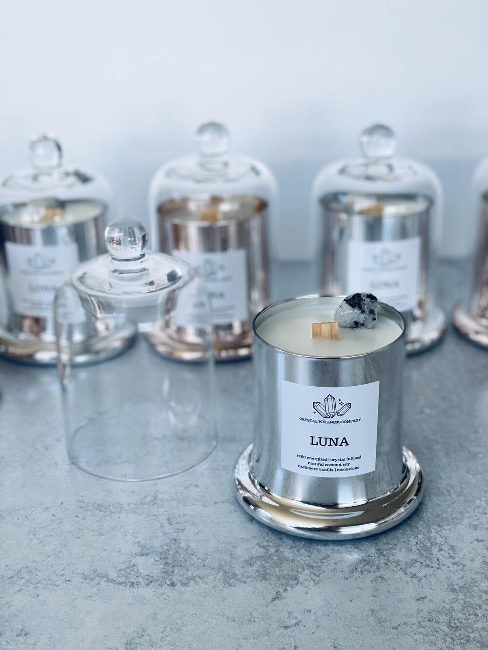 Candles from Crystal Wellness Company