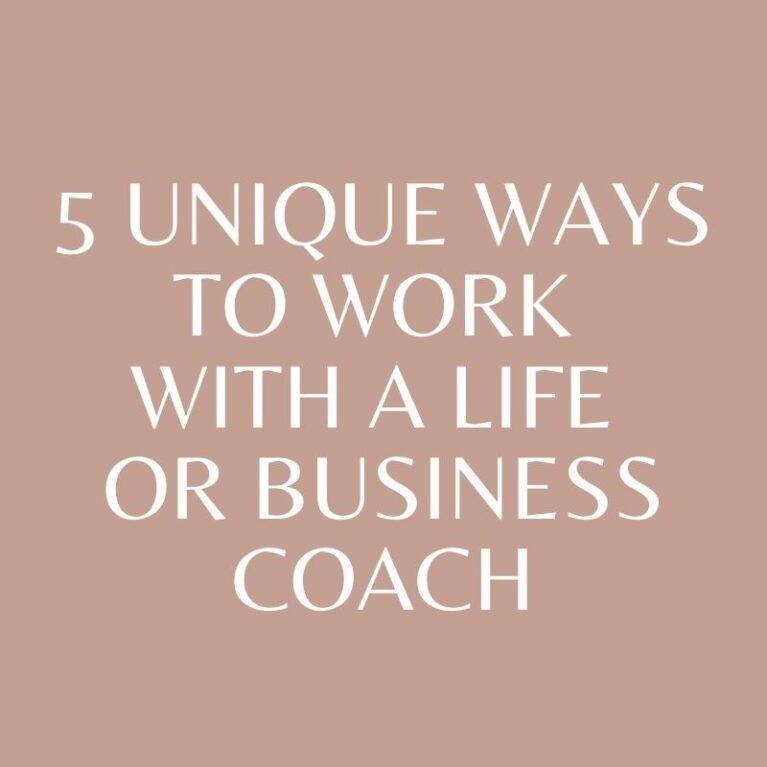 Five Unique Holistic Life Coach and Business Coach